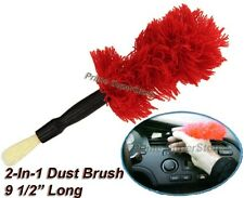 2-In 1 Black Dust Brush for Car truck RV Vent  Detailing & Cleaning Duster Tool