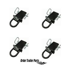 4 Removable Stake Pocket D-Ring s for Flatbed & Utility Trailers with pockets