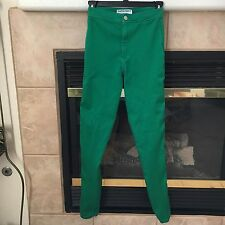 AMERICAN APPAREL MALIBU GREEN HIGH WAISTED EASY JEAN SMALL