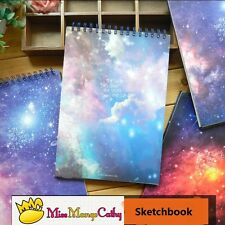 """""""The Universe Coil Spiral A4"""" 1pc Big Blank Sketchbook Notebook Planner Notepad"""