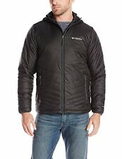 Columbia Men's Mighty Light Hooded Jacket Black Omni-Heat Size XL Extra Large