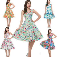 Housewife CLASSY Vintage Style Swing 40's 50's Pinup Prom Party Dress