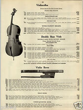 1914 PAPER AD Violin Bows German Pernambuco Wood Pearl Snakewood Cello Guitar