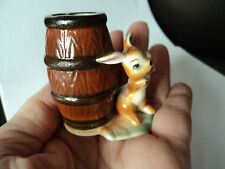 MID CENTURY VINTAGE JAPANESE SWEET LITTLE RABBIT TOOTHPICK HOLDER