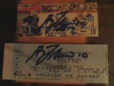 GUY LAFLEUR AUTOGRAPHED TICKET STUBS FROM LAST TWO GAMES***RARE***!!!