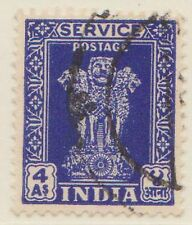 (IC-408) 1951 INDIA 4A multiple stamps WM (AB)