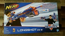 NERF Longshot CS-6 Blaster N-Strike Blue w/ Scope Brand New Sealed! RARE!