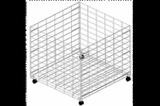 "Wire 36"" Dump Bin Rolling Retail Merchandise Display Fixture White Epoxy NEW"