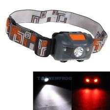 Super Bright 300LM Mini Headlight 3x CREE R3 +2 Red LED Headlamp Head Torch Lamp
