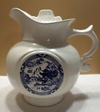 MCCOY #202 USA COOKIE JAR/JUG WHITE POTTERY/VINTAGE/BLUE WILLOW  Made in USA