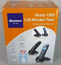 Binatone Vesta 1305 TWIN DUO Telefono Cordless Nero Casa Telefono + Call Blocker