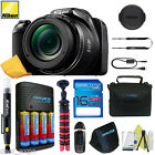 NIKON COOLPIX L340 20MP Digital Camera 28x Zoom + 16GB I3ePro Advanced Bundle