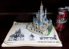 RARE Disney LE Cinderella Castle Figural Model Sheet Ceramic Porcelain Display