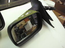 Fiat Punto Mk1 93-99 Door Mirror, Right Drivers Side, Manual, Black plastic