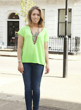360 cashmere Sellie vert fluo pull xs