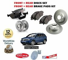 FOR DODGE JOURNEY 2.0DT 2.4 2008-  FRONT + REAR BRAKE DISCS SET + DISC PADS KIT