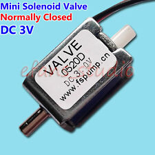 DC 3V Micro Electric Solenoid Valve N/C Normally Closed for Gas Air Valve 0520D
