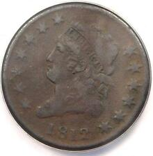 1812 Classic Liberty Large Cent 1C - Anacs Vf30 Details - Rare Date Penny