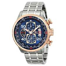 Invicta 17203 Men's Aviator Steel Bracelet Blue Dial Chrono Watch