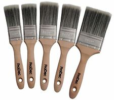 ProDec 5 Piece Decorator Paint Brush Set Trade Quality Synthetic (PBPT039)