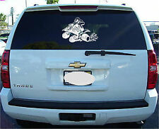 4 wheeler Quad Atv vinyl window sticker decal logo 10""