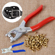 100pcs Eyelets Grommets + Setting Setter Pliers Kit for Bags Shoes Leather Belt