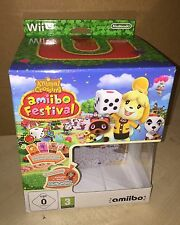 Nintendo Wii U * BOX ONLY - ANIMAL CROSSING AMIIBO FESTIVAL *  amiibo *