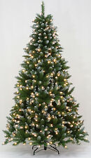 4.5' Frosted Allison Spruce Artificial Christmas Tree with Clear LED Lights