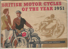 British Motor Cycles of the year 1951 + Autocycles + Racing Pub. Stone & Cox P/B