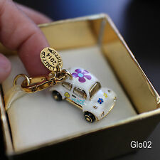 NWT Juicy Couture LTD ED LOVE BUG Open Up PEACE SIGN VW Car Beatle FLOWERS Charm