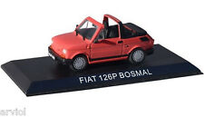 FIAT 126 P CABRIO BOSMAL red ( 1991 ) -- 1/43 -- IXO/IST -- NEW