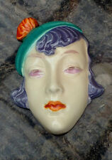 Royal Dux Czechoslovakian Art Deco Wall Mask Small Sized 1930s very rare