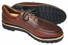"Filson Walnut Brown Leather ""Uplander"" Moc Toe Oxford Casual Shoes Sz 10M US"