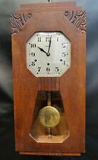 Art Deco French Walnut Wall Clock