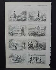HARPER'S WEEKLY Single Page S2#034 Jan 1874 The Miseries of Sport