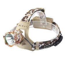 4000LM LED Headlamp Camouflage Head CREE XM-L T6 LED Head light Torch By 18650