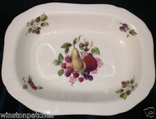 """ROYAL WORCESTER PALISSY SPODE PAL16 RELISH DISH 9 3/8"""" FRUIT & FLOWERS ON CREAM"""