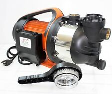 "1.5HP 1"" SHALLOW WELL GARDEN SPRINKLER JET WATER PUMP BOOSTER SELF PRIMING 1100W"