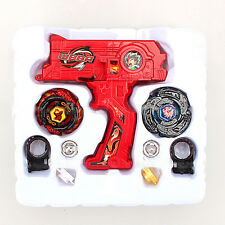 Beyblade Metal Fusion Masters Dual Launcher WBBA Special-Fire 2 Beys SYNC! RED