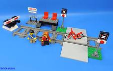 LEGO® Eisenbahn 60051 Bahnhof / mit Bahnübergang und 2 Schienen + Prellbock Nr.6