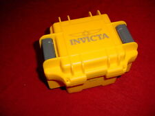 INVICTA WATCH CASE YELLOW EMPTY INTERNAL PADDING & WATCH PAD
