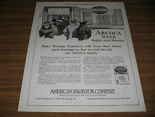 1921 Vintage Ad Arcola Hot Water Heating American Radiator Chicago,IL