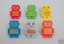 12 Robot Cup Cake Rings Toppers Kid Party Goody Bag Filler Favor Bakery Supply