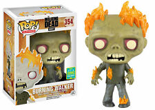 "SCE EXCLUSIVE THE WALKING DEAD BURNING WALKER 3.75"" POP VINYL FIGURE FUNKO SDCC"