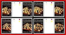 Gibraltar 2012 CHESS gutter PAIRS SC#1310-13 MNH FV£6.14/CV$19.5 SPORTS, JUDAICA