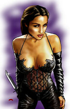 Alley Cat sexy Alley Baggett knife image comics 11x17 signed print Dan DeMille