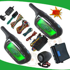 2 way remote start car alarm system with shock sensor alarm and motion alarm