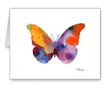 BUTTERFLY note cards by watercolor artist DJ Rogers