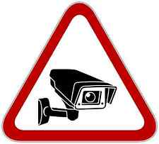 "Video Surveillance Security Sign Store Shop Vinyl Sticker Decal 4.5""X5"""