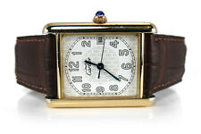 Cartier Tank 2413 26 mm 925 Silber vergoldet Quarz [BRORS 13019]